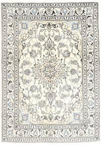 Nain Covor 145X205 Orientale Lucrat Manual Bej/Gri Deschis (Lână, Persia/Iran)