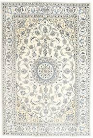 Nain Teppe 196X293 Ekte Orientalsk Håndknyttet Beige/Lys Grå (Ull, Persia/Iran)