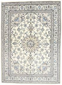 Nain Teppich  170X235 Echter Orientalischer Handgeknüpfter Beige/Hellgrau (Wolle, Persien/Iran)