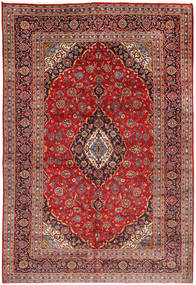 Keshan Rug 203X300 Authentic  Oriental Handknotted Dark Red/Dark Brown/Rust Red (Wool, Persia/Iran)