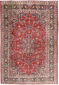 Mashad Tapijt 197X298 Echt Oosters Handgeknoopt Lichtbruin/Lichtroze (Wol, Perzië/Iran)