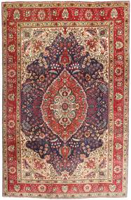 Tabriz Rug 200X302 Authentic  Oriental Handknotted Dark Brown/Dark Red (Wool, Persia/Iran)