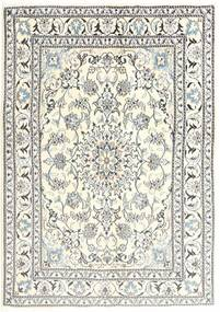Nain Matta 144X203 Äkta Orientalisk Handknuten Beige/Ljusgrå (Ull, Persien/Iran)