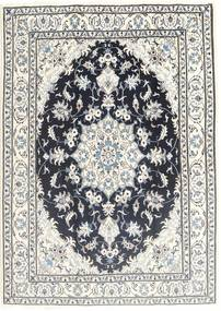 Nain Rug 168X240 Authentic  Oriental Handknotted Beige/Dark Grey/Light Grey (Wool, Persia/Iran)