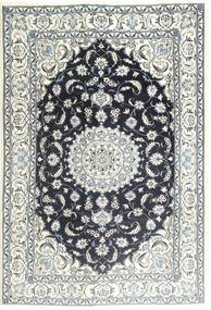Nain Rug 198X291 Authentic  Oriental Handknotted Light Grey/Dark Grey/Beige (Wool, Persia/Iran)