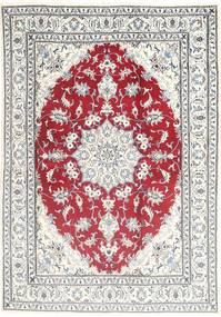 Наин Ковер 168X243 Ковры Ручной Работы Бежевый/Светло-Серый (Шерсть, Персия/Иран)