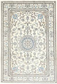 Nain Rug 199X292 Authentic  Oriental Handknotted Beige/Light Grey (Wool, Persia/Iran)