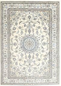 Nain Vloerkleed 197X286 Echt Oosters Handgeknoopt Beige/Lichtgrijs (Wol, Perzië/Iran)