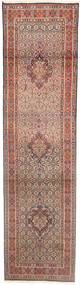 Moud Rug 77X290 Authentic  Oriental Handknotted Hallway Runner  Light Brown/Light Pink (Wool/Silk, Persia/Iran)