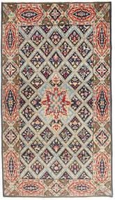Kerman Patina Teppich 120X212 Echter Orientalischer Handgeknüpfter Hellbraun/Hellgrau (Wolle, Persien/Iran)