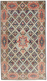 Kerman Patina Teppe 120X212 Ekte Orientalsk Håndknyttet Lysbrun/Lys Grå (Ull, Persia/Iran)