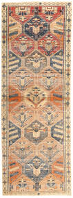 Lori Patina Rug 131X367 Authentic  Oriental Handknotted Hallway Runner  Beige/Dark Brown (Wool, Persia/Iran)