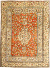 Tabriz Patina Rug 270X373 Authentic  Oriental Handknotted Light Brown/Brown Large (Wool, Persia/Iran)