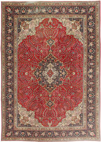 Tabriz Patina Rug 243X340 Authentic  Oriental Handknotted Light Brown/Dark Red (Wool, Persia/Iran)