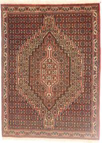 Senneh Koberec 74X102 Orientální Ručně Tkaný Světle Hnědá/Tmavě Červená (Vlna, Persie/Írán)
