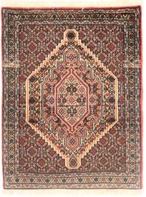 Senneh Koberec 77X98 Orientální Ručně Tkaný Tmavě Červená/Béžová (Vlna, Persie/Írán)