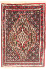 Senneh Rug 75X107 Authentic Oriental Handknotted Brown/Dark Red (Wool, Persia/Iran)