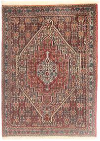 Senneh Koberec 76X104 Orientální Ručně Tkaný Světle Hnědá/Tmavě Hnědá (Vlna, Persie/Írán)