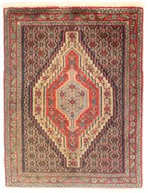 Senneh Koberec 75X100 Orientální Ručně Tkaný Světle Hnědá/Tmavě Hnědá (Vlna, Persie/Írán)