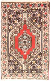 Senneh Matta 73X114 Äkta Orientalisk Handknuten Beige/Ljusrosa (Ull, Persien/Iran)