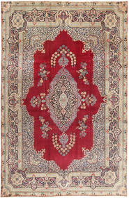 Yazd Patina Rug 240X368 Authentic  Oriental Handknotted Dark Red/Dark Grey (Wool, Persia/Iran)