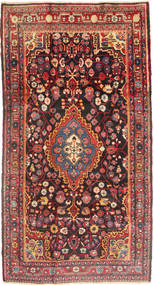 Jozan Rug 162X298 Authentic  Oriental Handknotted Dark Red/Dark Brown (Wool, Persia/Iran)