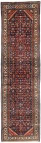 Hamadan Rug 115X412 Authentic Oriental Handknotted Hallway Runner Dark Red/Brown (Wool, Persia/Iran)