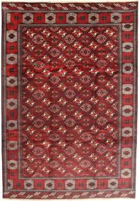 Turkaman Matto 235X348 Itämainen Käsinsolmittu Tummanpunainen/Ruskea (Villa, Persia/Iran)