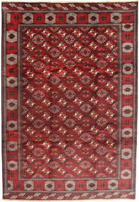 Turkaman Vloerkleed 235X348 Echt Oosters Handgeknoopt Donkerrood/Bruin (Wol, Perzië/Iran)