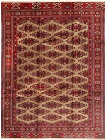 Turkaman Matta 235X315 Äkta Orientalisk Handknuten Mörkröd/Brun (Ull, Persien/Iran)