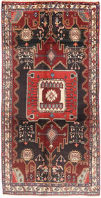 Koliai Rug 137X273 Authentic  Oriental Handknotted Hallway Runner  Brown/Dark Blue (Wool, Persia/Iran)