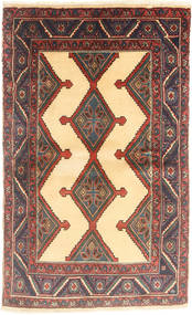 Nahavand Tapis 90X147 D'orient Fait Main Marron Clair/Marron Foncé (Laine, Perse/Iran)