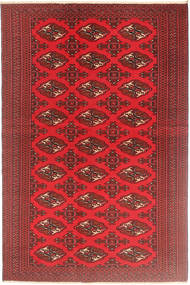 Turkaman Patina Matto 126X190 Itämainen Käsinsolmittu Tummanpunainen/Punainen (Villa, Persia/Iran)