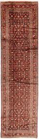 Hosseinabad Vloerkleed 100X380 Echt Oosters Handgeknoopt Tapijtloper Donkerrood/Donkerbruin (Wol, Perzië/Iran)