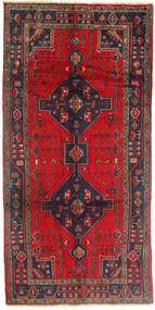 Koliai Rug 147X300 Authentic  Oriental Handknotted Hallway Runner  Brown/Crimson Red (Wool, Persia/Iran)