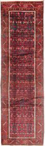 Hamadan Teppich 110X390 Echter Orientalischer Handgeknüpfter Läufer Dunkelrot/Dunkelbraun (Wolle, Persien/Iran)