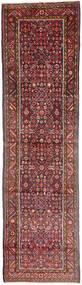 Hosseinabad Vloerkleed 98X388 Echt Oosters Handgeknoopt Tapijtloper Bruin/Donkergrijs (Wol, Perzië/Iran)