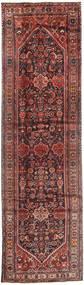 Hosseinabad Teppich  105X386 Echter Orientalischer Handgeknüpfter Läufer Braun/Dunkelrot (Wolle, Persien/Iran)