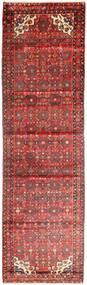 Hosseinabad Matto 115X413 Itämainen Käsinsolmittu Käytävämatto Tummanpunainen/Vaaleanpunainen (Villa, Persia/Iran)