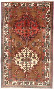 Sarab Teppich 102X170 Echter Orientalischer Handgeknüpfter Braun/Rost/Rot (Wolle, Persien/Iran)