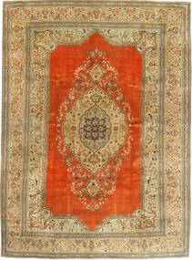 Tabriz Patina Rug 273X373 Authentic  Oriental Handknotted Light Brown/Brown Large (Wool, Persia/Iran)