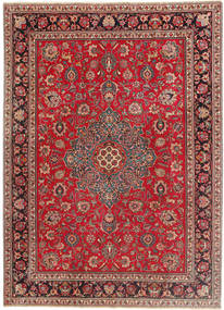 Tabriz Patina Rug 243X335 Authentic  Oriental Handknotted Brown/Crimson Red (Wool, Persia/Iran)