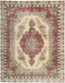 Tabriz Patina Rug 272X352 Authentic  Oriental Handknotted Light Brown/Beige Large (Wool, Persia/Iran)