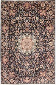Najafabad Patina Matta 235X360 Äkta Orientalisk Handknuten Ljusbrun/Mörklila (Ull, Persien/Iran)