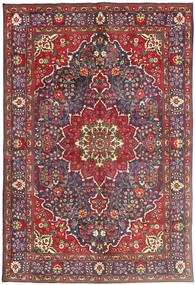 Tabriz Rug 200X300 Authentic  Oriental Handknotted Dark Red/Dark Purple (Wool, Persia/Iran)