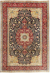 Tabriz Patina Rug 195X283 Authentic  Oriental Handknotted Brown/Dark Brown (Wool, Persia/Iran)