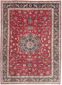 Mashad Patina Matto 202X280 Itämainen Käsinsolmittu Punainen/Tummanharmaa (Villa, Persia/Iran)