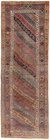 クルド 絨毯 118X338 オリエンタル 手織り 廊下 カーペット 薄茶色/茶/濃いグレー (ウール, ペルシャ/イラン)