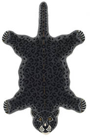 Leopard - Black Rug 100X160 Modern Dark Grey/Dark Blue (Wool, India)