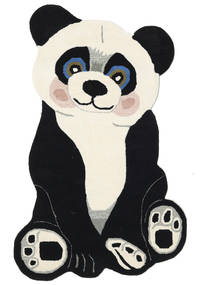 Panda Baby Rug 100X160 Modern Dark Grey/Beige (Wool, India)